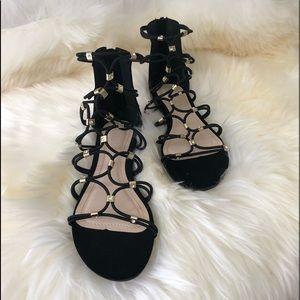 NWOT Gladiator Black Sandal 6M